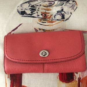 NWT Authentic COACH Slim Envelope Wallet - Tearose